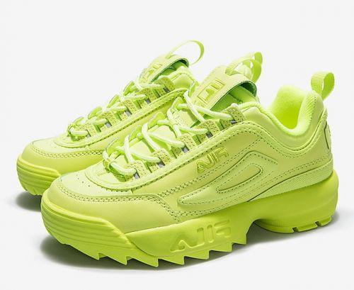 Fila Men White sneakers(GREEN)