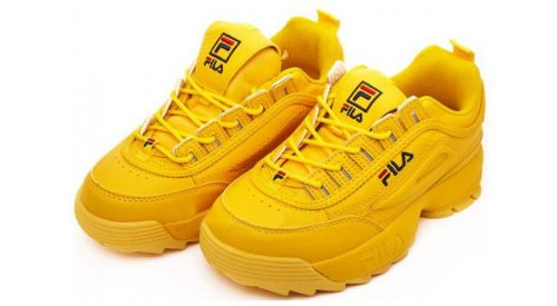 Fila Men White sneakers(YELLOW)