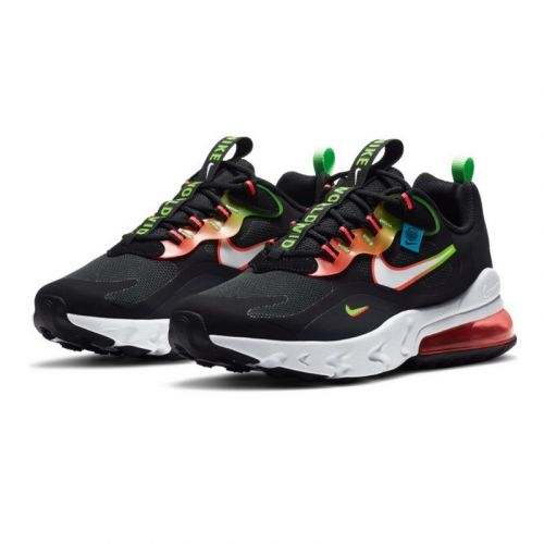 NIKE AIR MAX 270 REACT RUNNING AND TRAINING SHOES(BLACK)