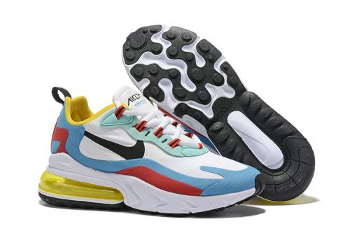 NIKE AIR MAX 270 REACT RUNNING AND TRAINING SHOES.(MULTICOLOR)