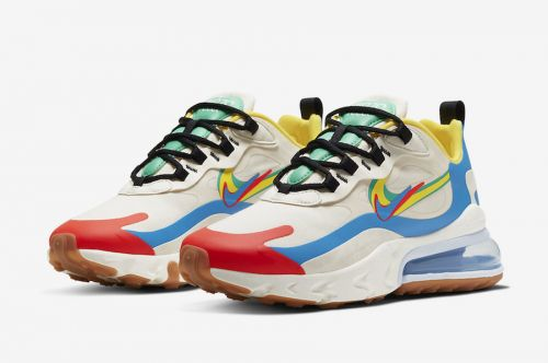 NIKE AIR MAX 270 REACT RUNNING AND TRAINING SHOES(.MULTICOLOR).