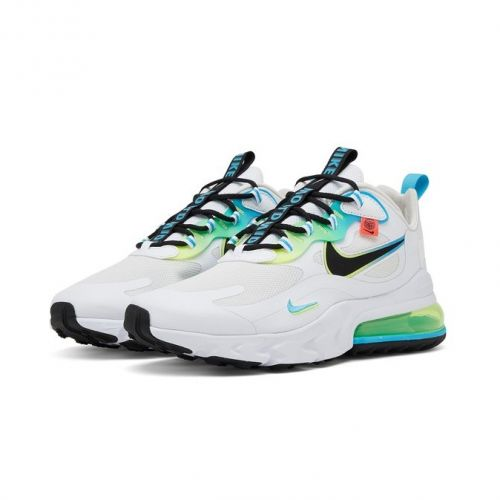 NIKE AIR MAX 270 REACT RUNNING AND TRAINING SHOES(WHITE)