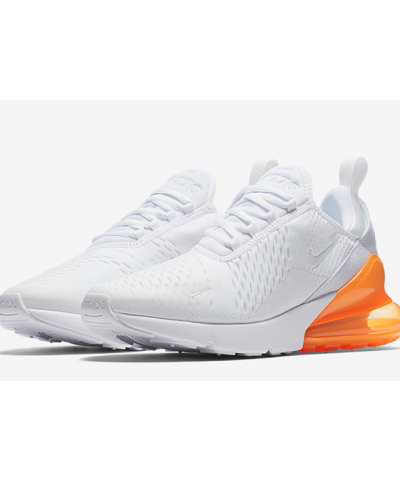 Nike Air Max 270 Running & Training Shoe For Men (White & Orange)