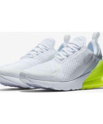 Nike Air Max 270 Running & Training Shoe For Men (White & Green)
