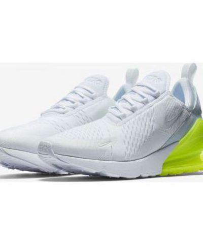 Nike Air Max 270 White Running Shoes(white green)