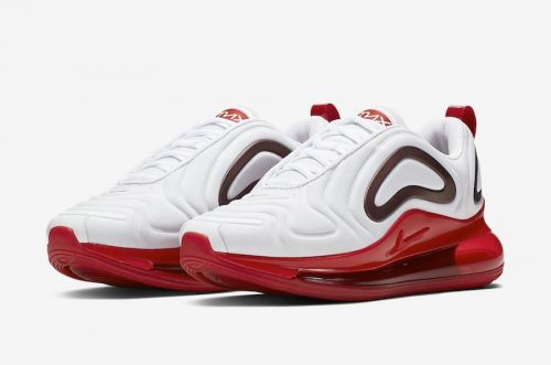 NIKE AIR MAX 720 RUNNING AND TRAINING SHOES (WHITE & RED)