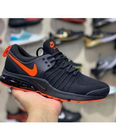 Nike Air Presto  Running And Training Sports Shoes For Men.(Black & Orange)