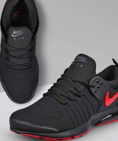Nike Air Presto  Running And Training Sports Shoes For Men.(Black & Red)