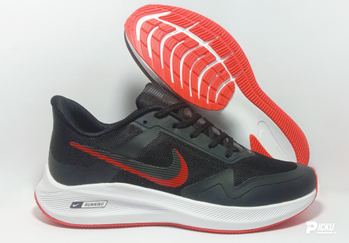 Nike Air Zoom Winflo 7X Running And Training Sports Shoes(BLACK & RED)