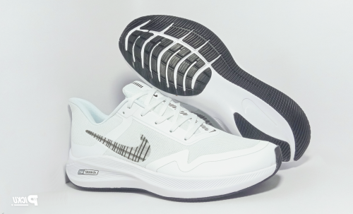 Nike Air Zoom Winflo 7X Running And Training Sports Shoes(WHITE & BLACK)