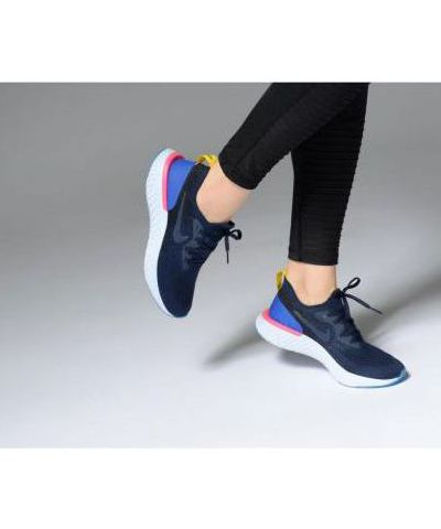 NIKE EPIC REACT FLYKNIT  RUNNING AND TRAINING SHOES(BLUE)