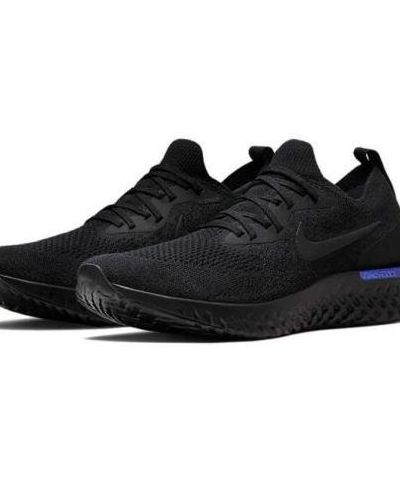NIKE EPIC REACT FLYKNIT  RUNNING AND TRAINING SHOES (BLACK)..