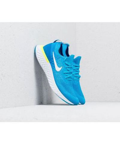 NIKE EPIC REACT FLYKNIT  RUNNING AND TRAINING SHOES(SKY)