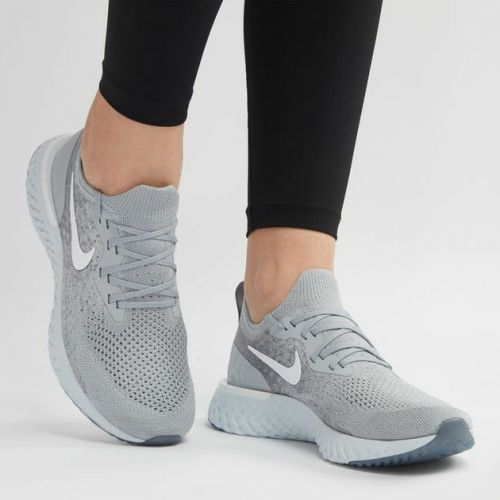 NIKE EPIC REACT FLYKNIT RUNNING AND TRAINING SHOES(GREY)