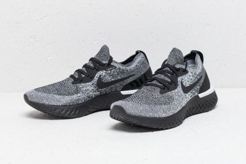 NIKE EPIC REACT FLYKNIT  RUNNING AND TRAINING SHOES (BLACK)