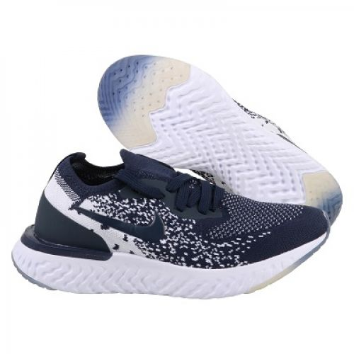 NIKE EPIC REACT FLYKNIT  RUNNING AND TRAINING SHOES(NAVY BLUE)