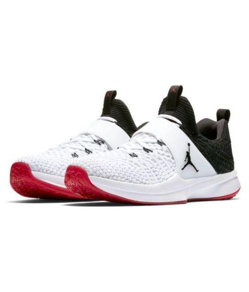NIKE JORDAN FLYKNIT Basketball RUNNING AND TRAINING SHOES(WHITE BLACK & RED)