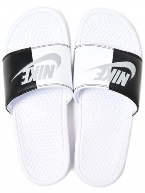 Nike Printed Benassi JDI Slipper  Flip Flop(BLACK & WHITE)