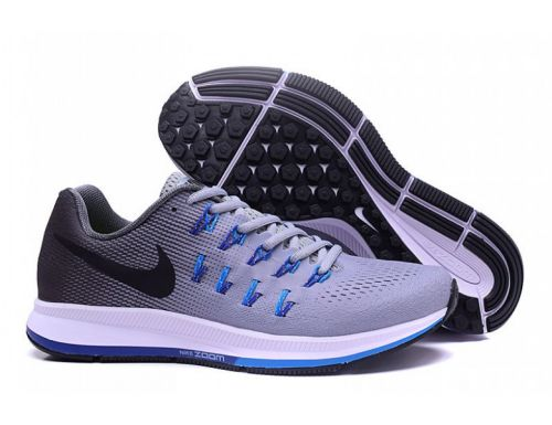 Nike Zoom Pegasus 33 Running And  Training Sports Shoes(GREY)