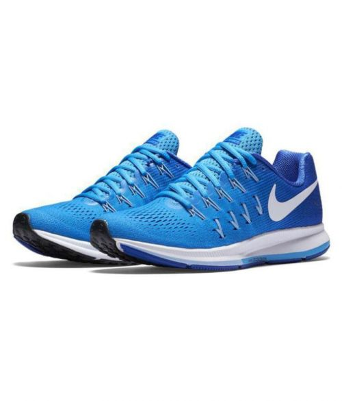 Nike Zoom Pegasus 33 Running And  Training Sports Shoes(SKY BLUE)