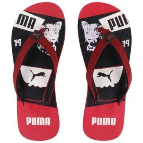 PUMA MEN SLIPPER FLIP FLOP (BLACK & RED)