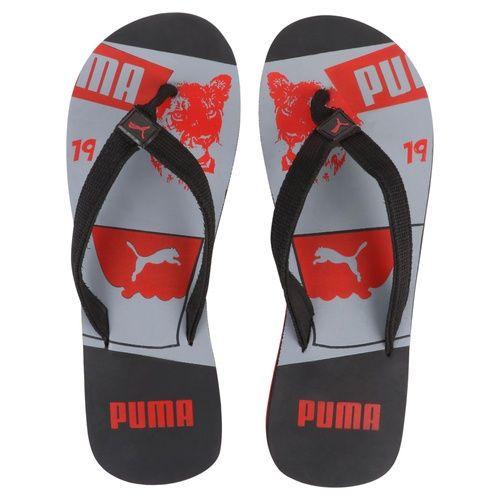 PUMA MEN SLIPPER FLIP FLOP (BLACK & RED).